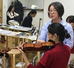 ヴァイオリンの先生へのサポートのイメージ